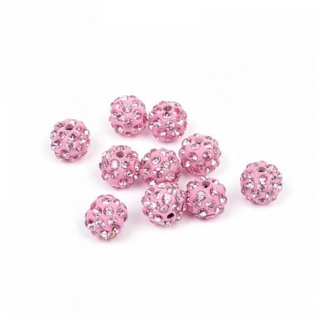 Бусины Шамбала TBY SHN.10 цв. 2 светло-розовый d-10мм