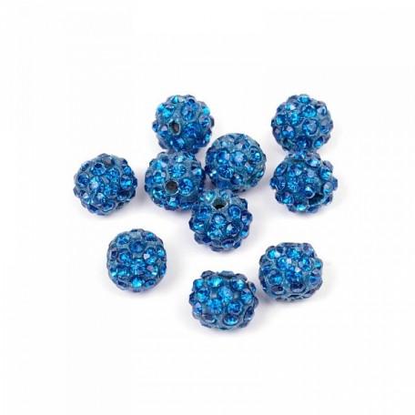 Бусины Шамбала TBY SHN.10 цв.28 синий d-10мм