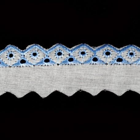 Шитье арт.ТСВ-1018 шир.2,5см цв.101/182 голубой 100% п/э