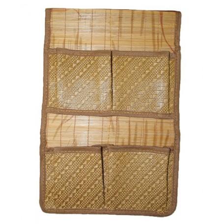Органайзер из бамбука с карманами 2*2 арт.SZB-529 цв. 1 размер 38*25мм