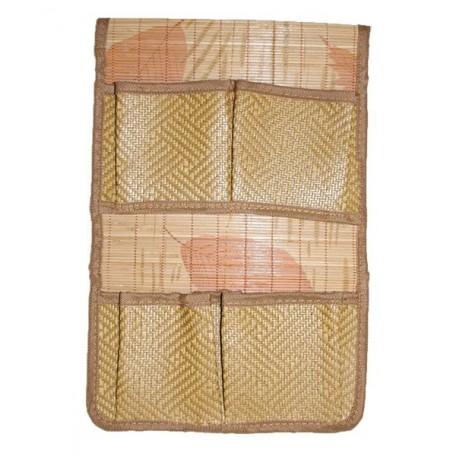 Органайзер из бамбука с карманами 2*2 арт.SZB-529 цв. 2 размер 38*25мм