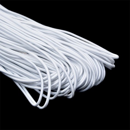 Резинка шляпная (шнур круглый) цв.101 белый 3,0мм рул.50м