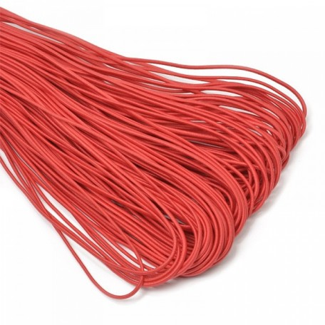 Резинка шляпная (шнур круглый) цв.145 красный 2,2мм рул.50м