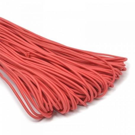 Резинка шляпная (шнур круглый) цв.145 красный 3,0мм рул.50м