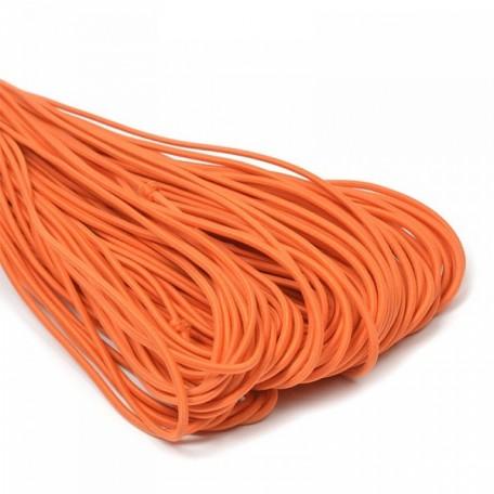 Резинка шляпная (шнур круглый) цв.154 оранжевый 3,0мм рул.50м