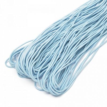 Резинка шляпная (шнур круглый) цв.178 голубой 2мм рул.50м