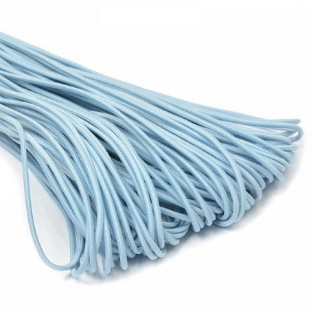Резинка шляпная (шнур круглый) цв.178 голубой 3,0мм рул.50м