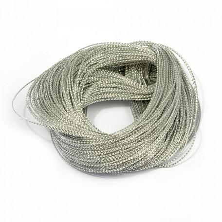 Шнур декоративный металлизированный арт.TBY.SHDM21 1,5мм цв.серебро уп.100м