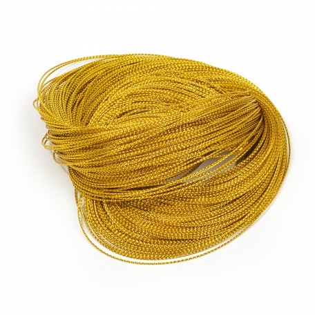 Шнур декоративный металлизированный арт.TBY.SHDM22 1,5мм цв.золото1 уп.100м