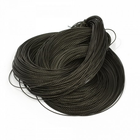 Шнур декоративный металлизированный арт.TBY.SHDM42 1мм цв.черный уп.100м
