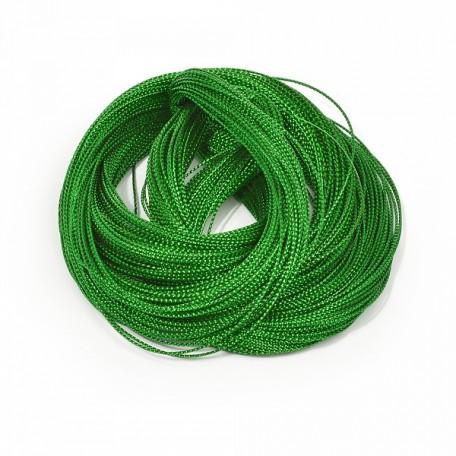 Шнур декоративный металлизированный арт.TBY.SHDM45 1мм цв.зеленый уп.100м