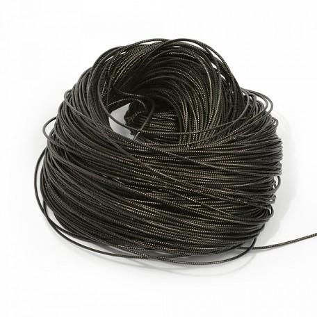 Шнур декоративный металлизированный арт.TBY.SHDM52 2мм цв.черный уп.100м