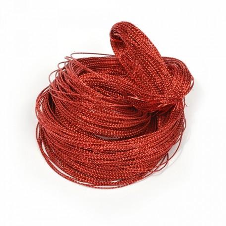 Шнур декоративный металлизированный арт.TBY.SHDM53 2мм цв.красный уп.100м