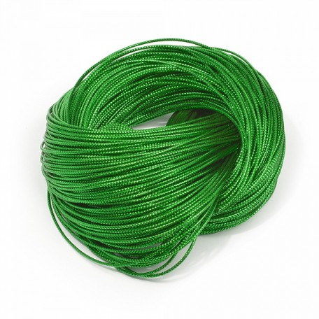 Шнур декоративный металлизированный арт.TBY.SHDM55 2мм цв.зеленый уп.100м