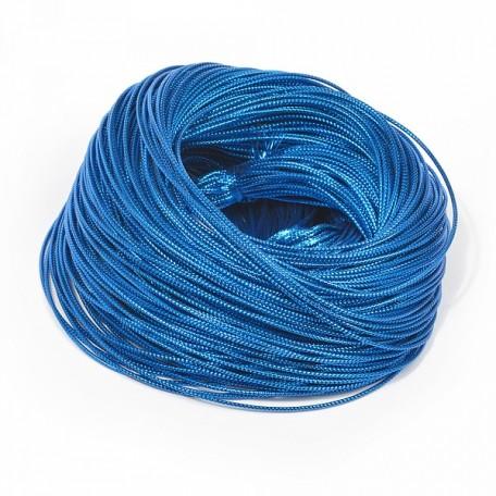 Шнур декоративный металлизированный арт.TBY.SHDM56 2мм цв.синий уп.100м
