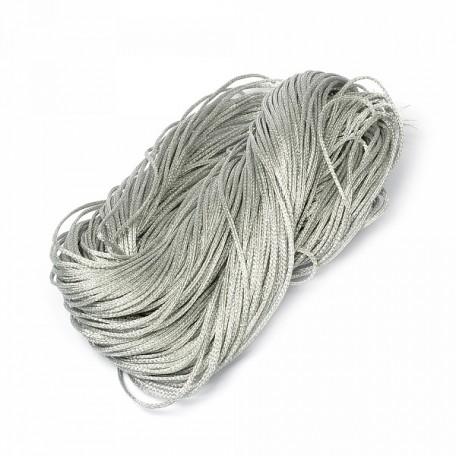 Шнур декоративный металлизированный арт.TBY.SHDM62 1-2мм цв.серебро (усилен) уп.50м