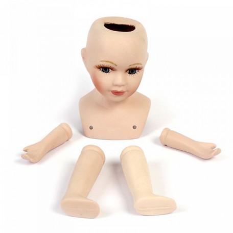 Набор для изготовления куклы арт.КЛ.21411 голова, 2 руки, 2 ноги, керамич. больш