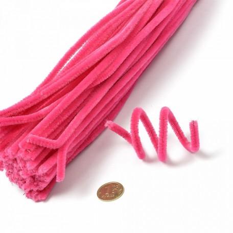 Скрутки бархатные 0,5х30см цв. А001 розовый уп.100шт