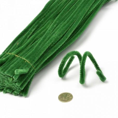 Скрутки бархатные 0,5х30см цв. А027 зеленый уп.100шт