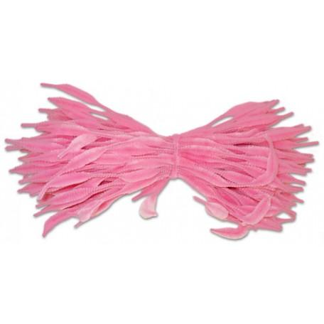 Скрутки бархатные фигурные 30см цв. А001 розовый уп.100шт