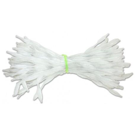 Скрутки бархатные фигурные 30см цв. А024 белый уп.100шт