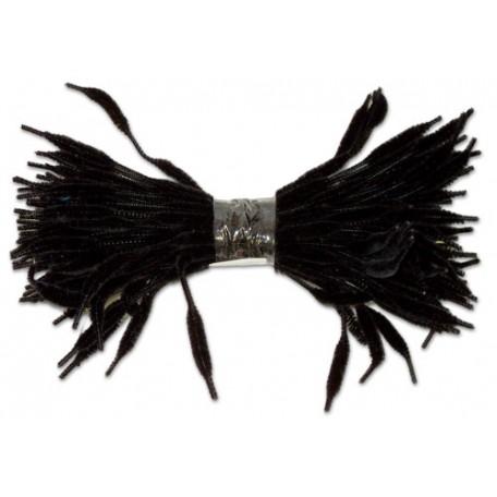 Скрутки бархатные фигурные 30см цв. А026 черный уп.100шт
