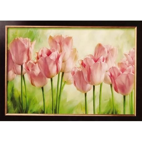 Набор для вышивания бисером 'Славяночка' арт. С-003 'Акварельные тюльпаны' 21х31 см
