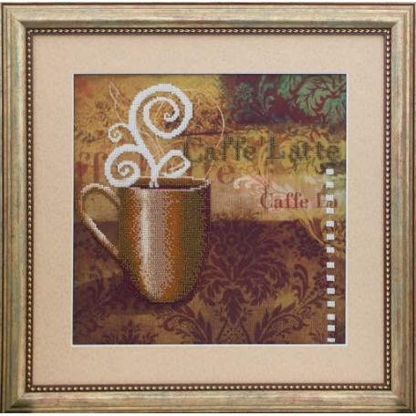 Набор для вышивания бисером 'Славяночка' арт. С-023 Кофе Латте 31х31 см