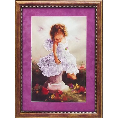 Набор для вышивания бисером 'Славяночка' арт. С-106 'Ангел и голуби' 36х28 см