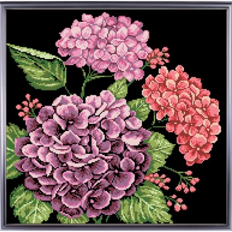 Рисунок на ткани 'Славяночка' арт. КС-006 Гортензии 35х38 см