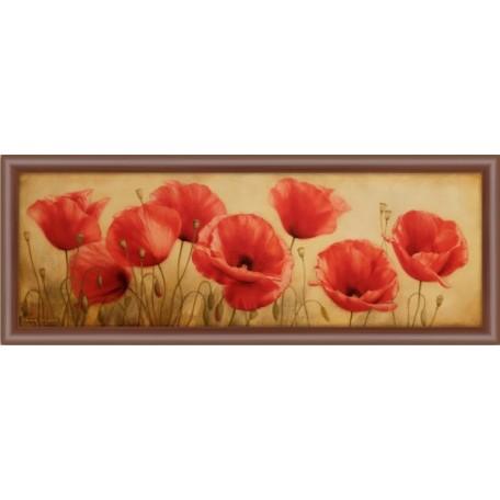 Рисунок на ткани 'Славяночка' арт. КС-007 Маковый цвет 20х58 см