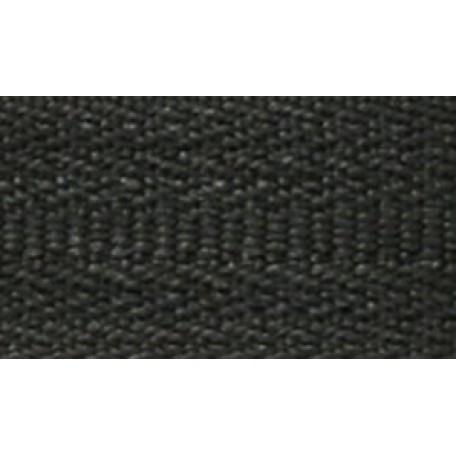 Молния пласт. спираль №5-N 35см цв.F322 черный А