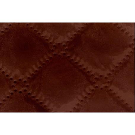 Ткань подкладочная термостежка рис. 2 (ромб фигурный) шир.150 см. цв.61 т.коричневый