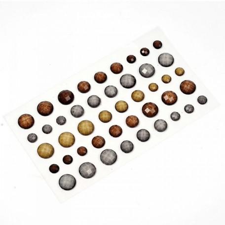 Камушки клеевые в наборе арт.7992 акрил