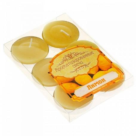 СЛ.831895 Набор свечей в гильзе, аромат лимон уп.6 шт
