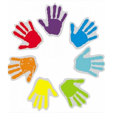 Набор цветных наклеек арт.СВЭН.077 'Ладошка' 3х3 см 6 шт