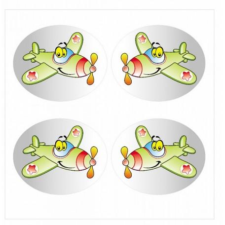 Набор цветных наклеек арт.СВЭН.079 'Самолет' 4,5х4 см 4 шт
