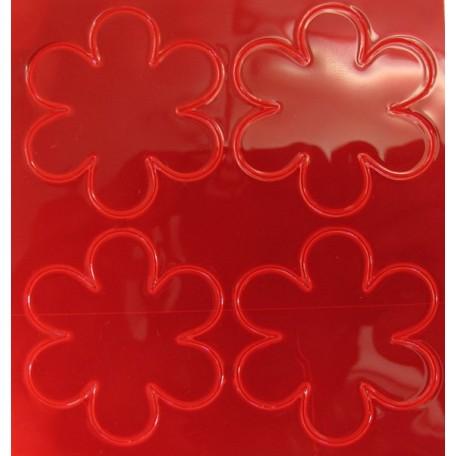 Световозвращатель наклейка арт.СВЭН.040 ПВХ 'Набор цветов' (Красный) 10х9 см