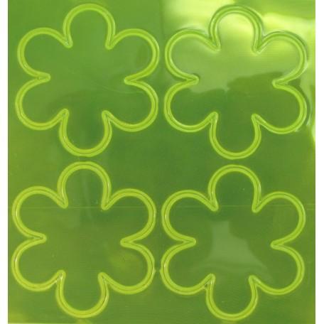 Световозвращатель наклейка арт.СВЭН.042 ПВХ 'Набор цветов' (Желто-лимонный) 10х9 см