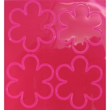 Световозвращатель наклейка арт.СВЭН.043 ПВХ 'Набор цветов' (Розовый) 10х9 см