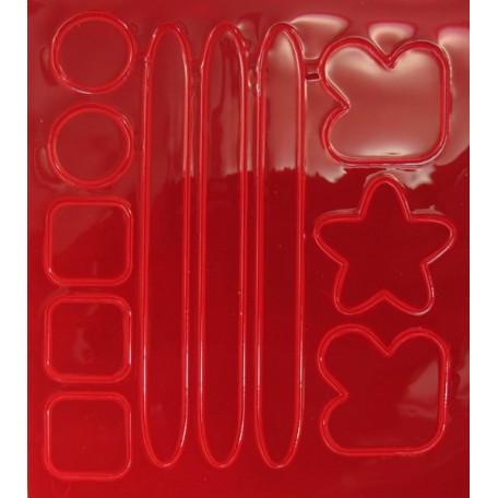 Световозвращатель наклейка арт.СВЭН.050 ПВХ 'Набор велосипедиста' (Красный) 10х9 см