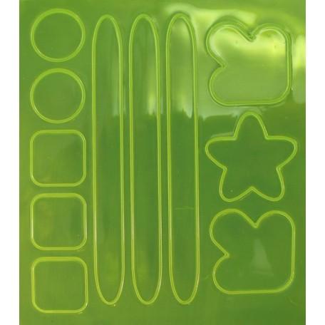 Световозвращатель наклейка арт.СВЭН.052 ПВХ 'Набор велосипедиста' (Желто-лимонный) 10х9 см