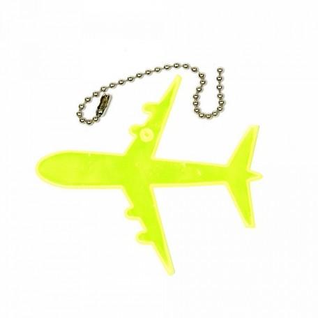 Световозвращатель подвеска арт.СВЭП.010 ПВХ 'Самолет' (Желто-лимонный)