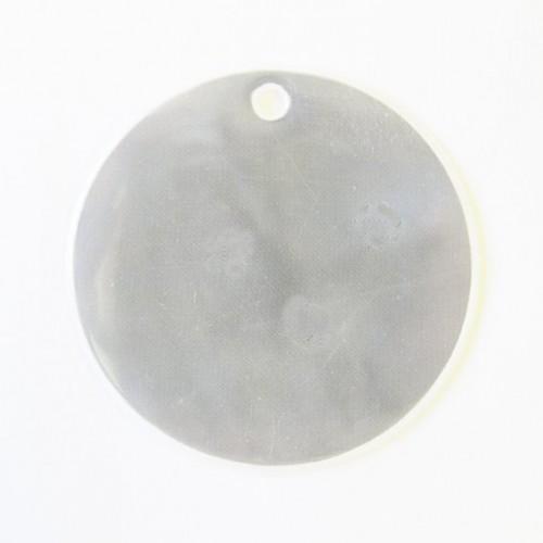 """Анонс-изображение товара световозвращатель пвх подвеска """"круг"""" 70 мм белая, арт. 304/493"""