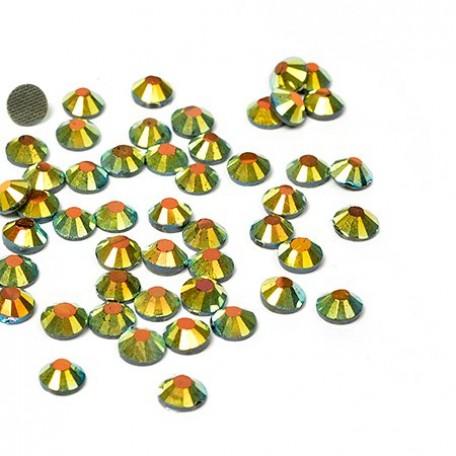 Стразы IDEAL клеевые арт.SS-10 (2,7-2,9 мм) цв.AB JET упак.1440 шт.