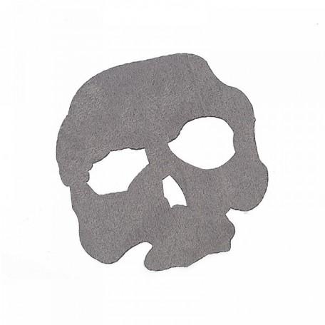 Термозаплатки 12х12 уп. 1шт цв. череп серый