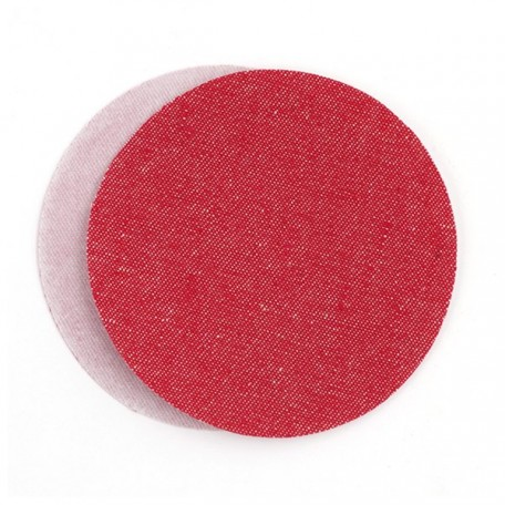 Термозаплатки круг 10см уп. 2шт цв. джинс-красный