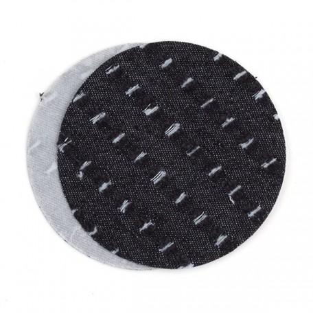 Термозаплатки круг 10см уп. 2шт цв. джинс-текстур. черный