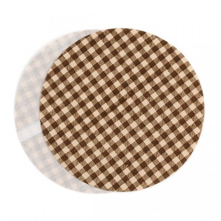 Термозаплатки круг 10см уп. 2шт цв. клетка беж-коричневый