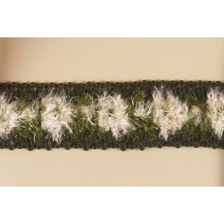 Тесьма арт.ТВД-1021000 C шир.28мм цв.зеленый уп.13,71м